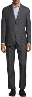Michael Bastian Gray Label Checkered Wool Suit