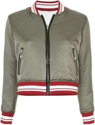 GUILD PRIME stripe bomber jacket