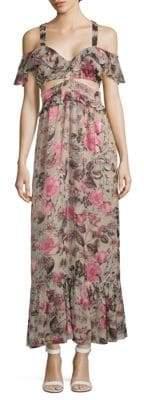 For Love & Lemons Cadence Floral Maxi Dress