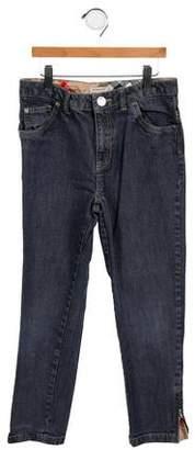 Burberry Girls' Nova Check-Trimmed Jeans