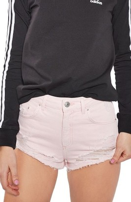 Women's Topshop Ripped Mini Denim Shorts $58 thestylecure.com