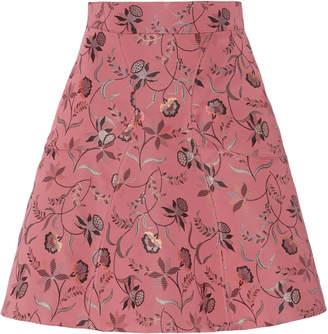 Zac Posen Jacquard Floral Mini Skirt
