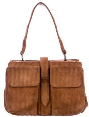 Alexander McQueen Corduroy Mini Handle Bag