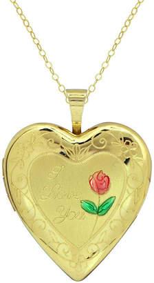 FINE JEWELRY Womens 10K Gold Heart Locket Necklace