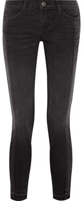Current/Elliott - The Seamed Easy Stiletto Mid-rise Stretch-denim Skinny Jeans - Black $250 thestylecure.com