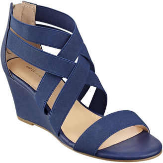 LIZ CLAIBORNE Liz Claiborne Rockele Stretch Wedge Sandals $60 thestylecure.com