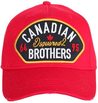 DSQUARED2 Canadian Brothers Patch Baseball Hat