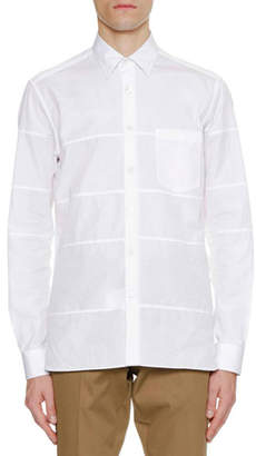 Lanvin Men's Regular-Fit Sport Shirt with Horizontal Cuts