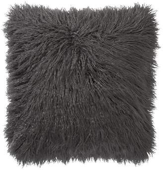 Pottery Barn MONGOLIAN IVORY FAUX FUR Pillow Cover - Shale