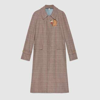 Gucci Wool coat with puma patch