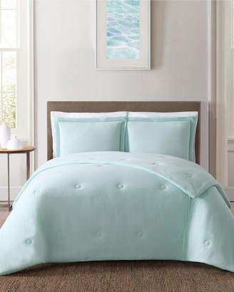 Truly Soft Everyday Solid Jersey Aqua Comforter Set