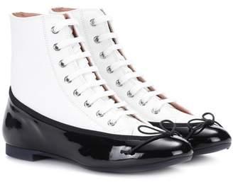 Marco De Vincenzo Leather ballerina sneakers