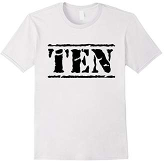 Ten - Distressed 10th Birthday Shirt for Boys & Girls