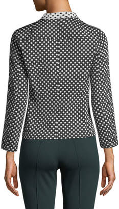 Akris Punto Notch-Collar Reversible Dot Blazer