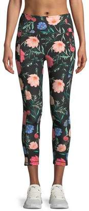 Kate Spade Blossom Floral-Print Studio Leggings