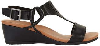 Wide Steps Magnet Black Glove Sandal