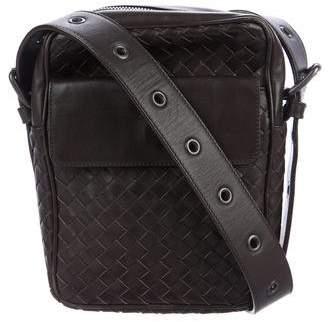 Bottega Veneta Intrecciato Leather Messenger