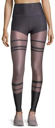 Alo Yoga High-Waist Tech-Lift Airbrush Full-Length Leggings