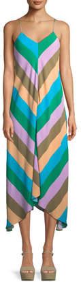 Tibi Julian Striped Slip Dress