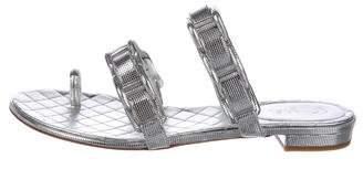 Chanel 2017 Metallic Sandals