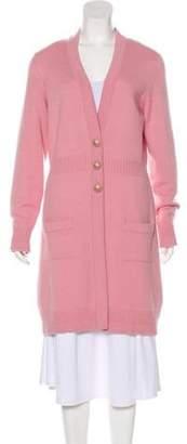 Chanel Cashmere Longline Cardigan Pink Cashmere Longline Cardigan