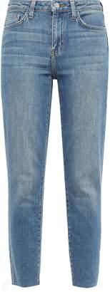 L'Agence El Matador Cropped Frayed High-rise Slim-leg Jeans