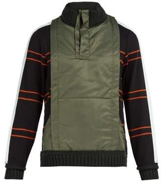 Craig Green Ridge Knit Cotton Blend Quarter Zip Sweatshirt - Mens - Black