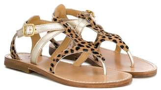 Gallucci Kids animal print flat sandals