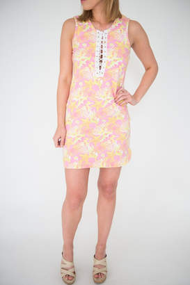 Macbeth Collection Lace Up Tunic Dress