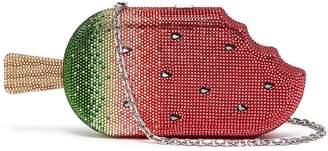 Judith Leiber 'Watermelon Popsicle' crystal pavé minaudière