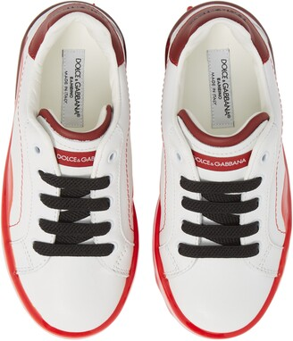 Dolce & Gabbana Dipped Sole Low Top Sneakers