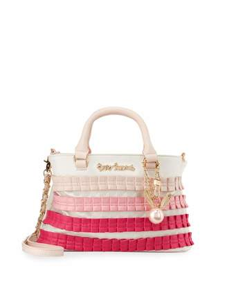 Betsey Johnson Pleats And Thank You Satchel Bag $90 thestylecure.com