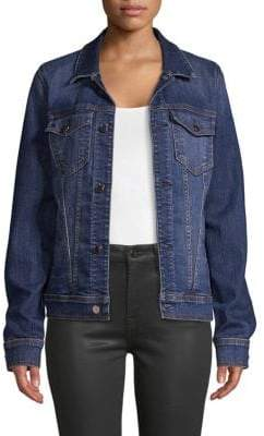 7 For All Mankind Jen7 by Slim-Fit Classic Denim Jacket