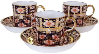 One Kings Lane Vintage Royal Crown Derby Cups & Saucers - 6-Pcs - The Montecito Collection