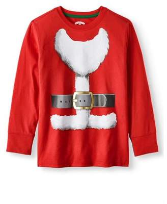 Long Sleeve Christmas Holiday Graphic T-shirts (Little Boys & Big Boys)