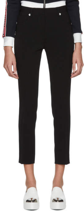 Black Flower Button Trousers