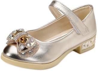 3.1 Phillip Lim OCHENTA Girls Rhinestone Bow Glitter Mary Janes Low Heel Dress Pumps Tag 30