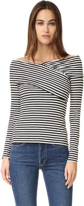 Theory Kellay LS Shirt $190 thestylecure.com