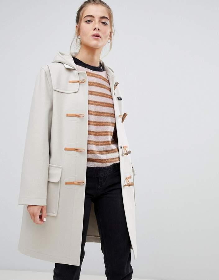 Original long duffle coat in wool blend
