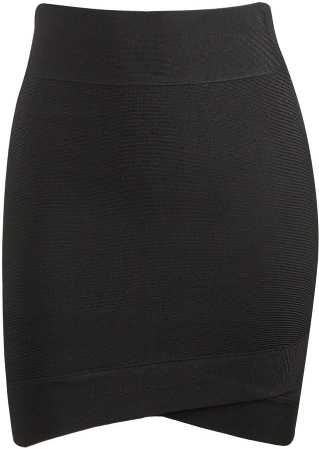 Asymmetrical Sweater Mini Skirt