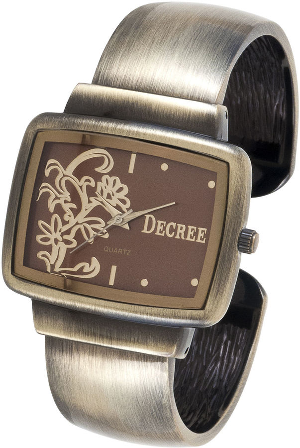 JCPenney Decree Floral Bangle Watch