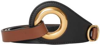 Burberry Grommet Detail Lambskin Waist Belt