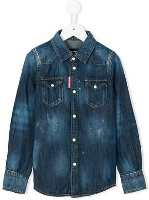 DSQUARED2 distressed effect denim shirt