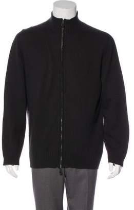 Hermes Rib Knit Zip Sweater