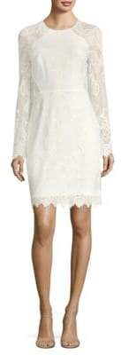 BCBGMAXAZRIA Long-Sleeve Lace Sheath Dress