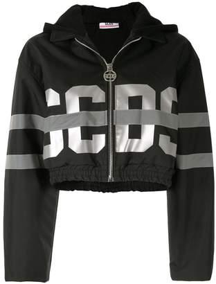 GCDS metallic logo cropped jacket