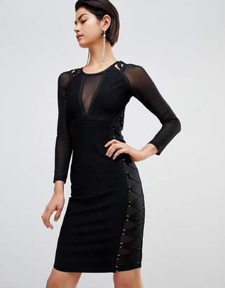 Forever Unique Sheer Paneled Dress