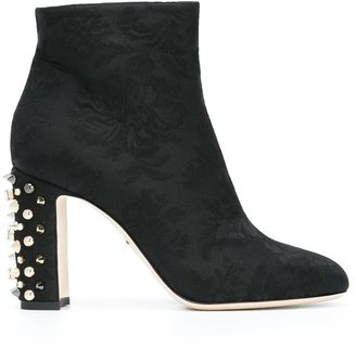 Dolce & Gabbana embellished heel boots $1,195 thestylecure.com