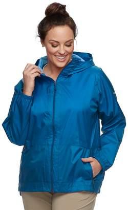 Columbia Plus Size Rain to Fame Hooded Rain Jacket