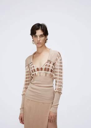 Jacquemus Lamia Grid Collared Knit
